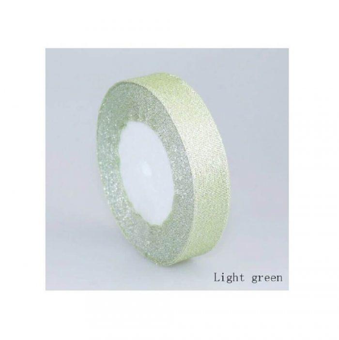 Glitter Ribbon – Light Green 1