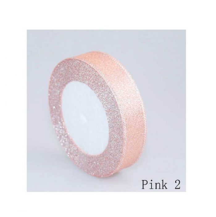 Glitter Ribbon – pink 2 1