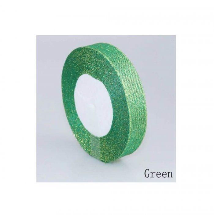 Glitter Ribbon – Green 1