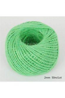 Jute/Burlap Cord - Grass green