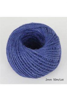Jute/Burlap Cord - Royal blue