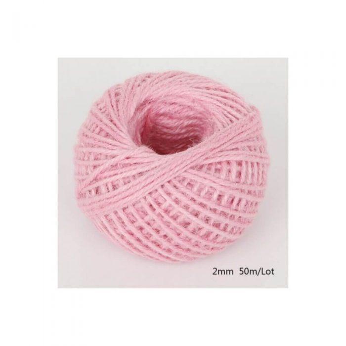 Jute/Burlap Cord – Pink 1