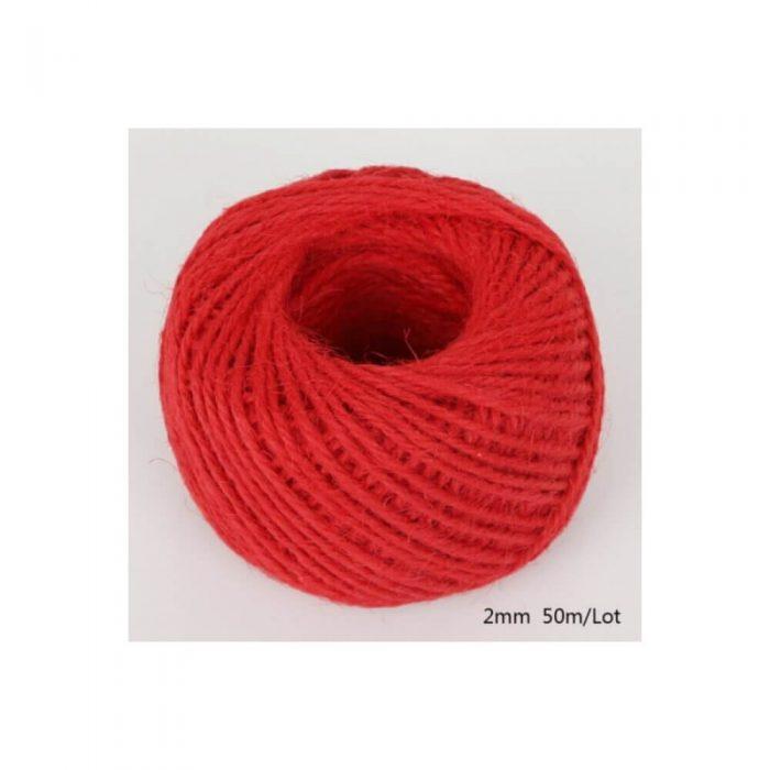 Jute/Burlap Cord – Big red 1