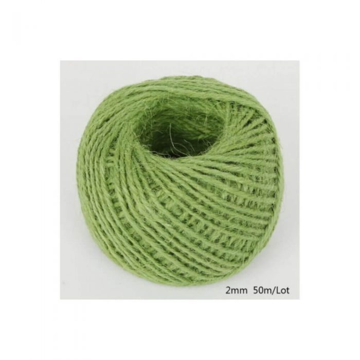 Jute/Burlap Cord – Olive green 1