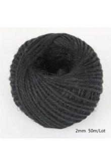 Jute/Burlap Cord - black