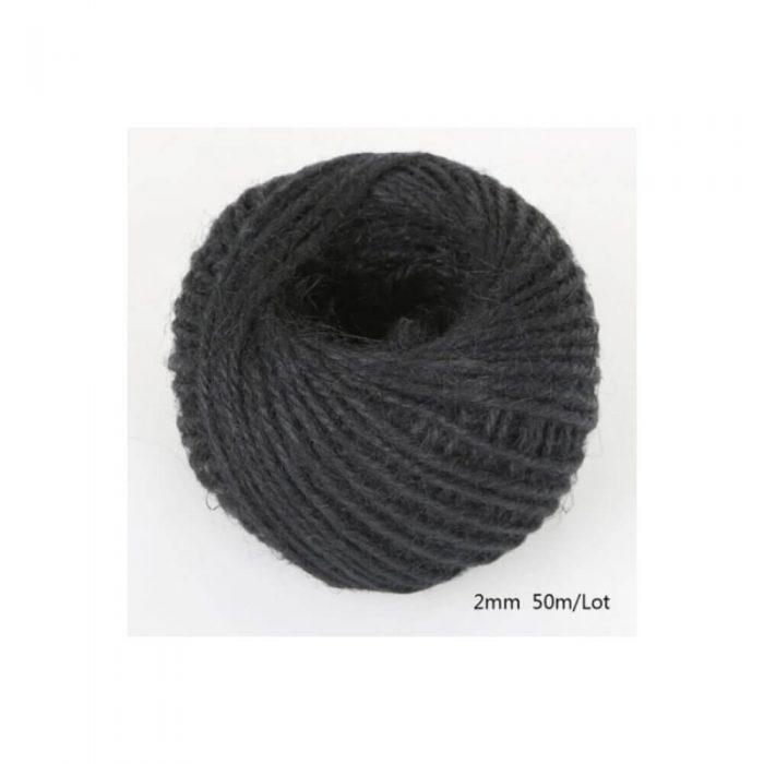 Jute/Burlap Cord – black 1