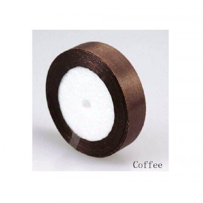 Satin Ribbon – Coffee 1