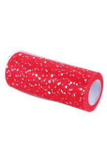 Glitter Tulle - Red