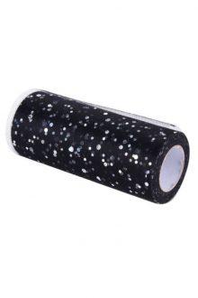Glitter Tulle - Black