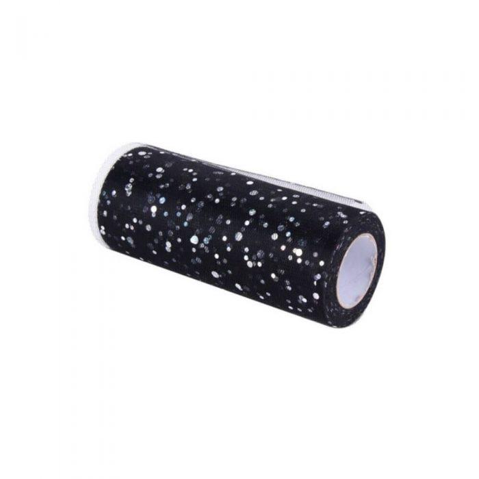 Glitter Tulle – Black 1