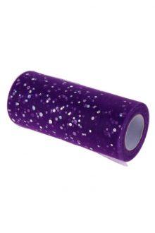 Glitter Tulle - Purple